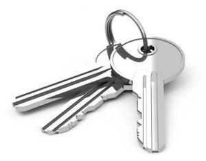 Schlüsselbund mit silbernen Schlüsseln